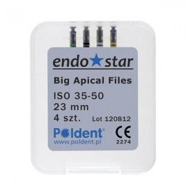 E5 Big Apical Files Endostar Ass. 35-50, dł. 23mm