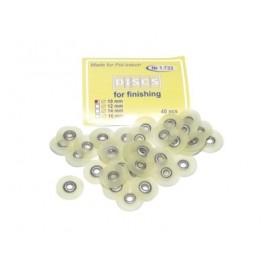 Krążki polerskie na standardową mandrelkę na rynku (op.40 szt.) 10 mm - żółte fine